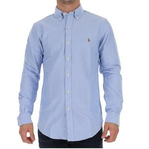 Ralph Lauren Chambray Oxford Long Sleeve Button Up